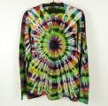 Batikované tričko duhové Imagination XXL dlouhý rukáv