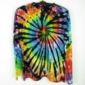 Batikované tričko duhové Rebel XXL dlouhý rukáv