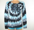 Dámské tričko batika Grey galaxy, S