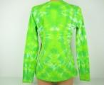 Dámské tričko Srdce v zeleni batika