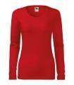 Červené tričko dámské dlouhý rukáv
