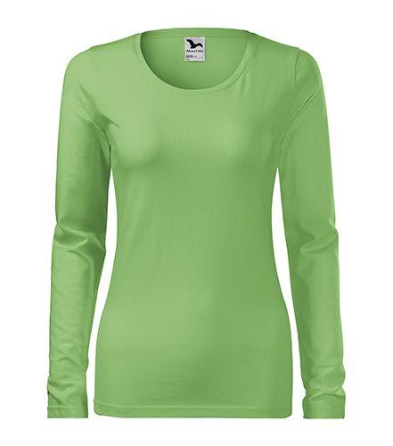 Světle zelené tričko dámské dlouhý rukáv