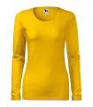 Žluté tričko dámské dlouhý rukáv