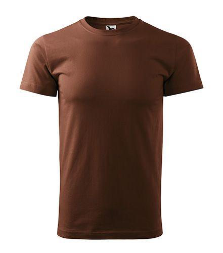 Hnědé tričko vysoká gramáž