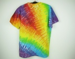 Batikované tričko duhové Rainbow