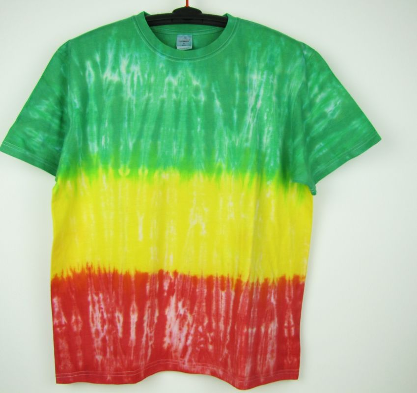 Batikované tričko Rasta
