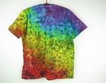 Batikované tričko Žhavá duha Barvy čaker