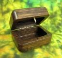 Dřevěná krabička (šperkovnice) ovengkol - zaoblená otevřená