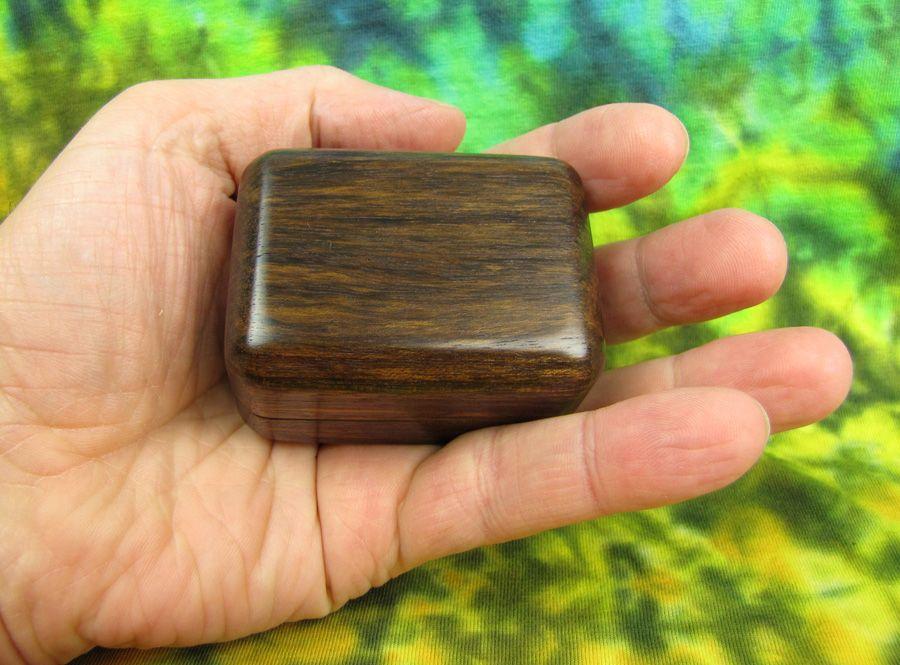 Dřevěná krabička (šperkovnice) ovengkol - zaoblená
