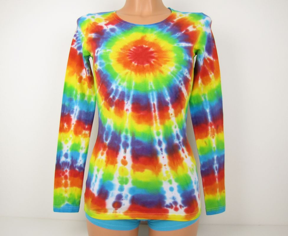 1e350694d33a Dámské tričko batika Duhovka