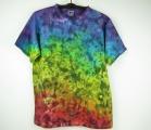 Batikované tričko Žhavá duha, XL