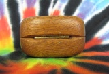 Dřevěná krabička (šperkovnice) mahagon - oblá pantík