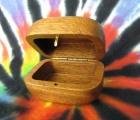 Dřevěná krabička (šperkovnice) mahagon - oblá otevřená