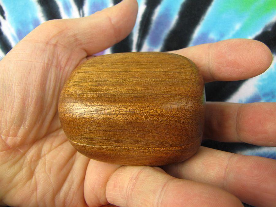 Dřevěná krabička (šperkovnice) mahagon - oblá