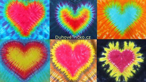 Batikované vzory srdce