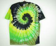 Batikované tričko Dark green, XXL