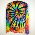 Batikované tričko duhové Rebel XL dlouhý rukáv
