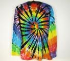 Batikované tričko duhové Rebel XXXL dlouhý rukáv