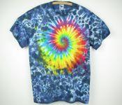 Batikované tričko Rainbow galaxy, XXL