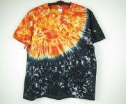 Batikované tričko Slunce Vesmír, XXL
