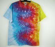 Batikované tričko Vlny řeka a oheň, XL