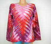 Dámské batikované tričko Vínové véčko, L