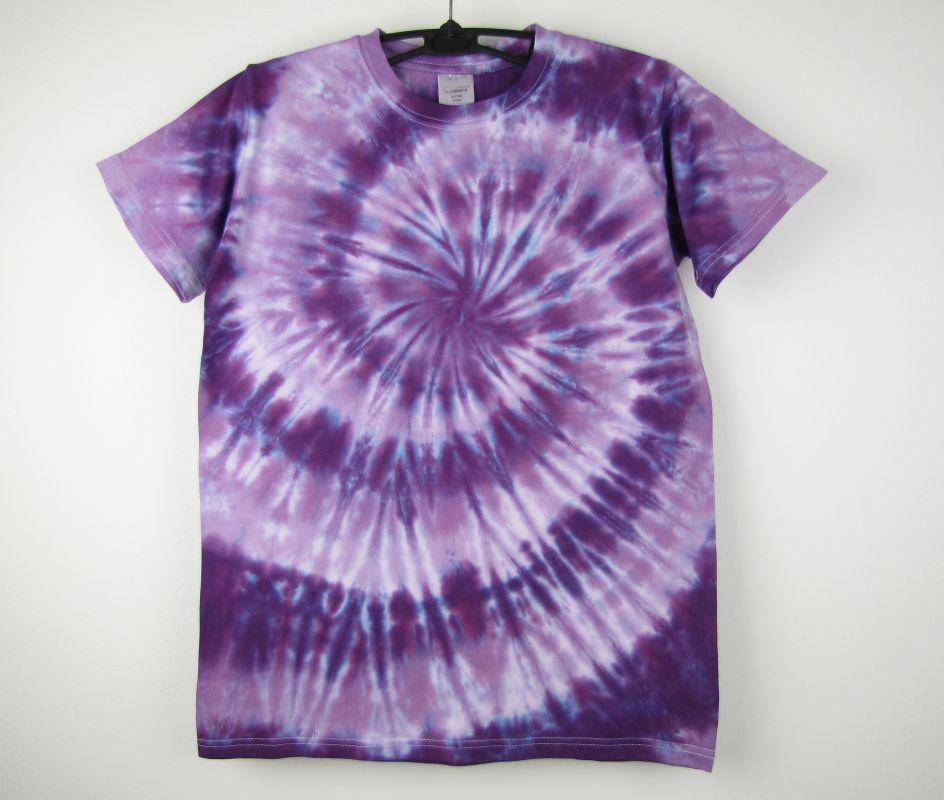 92ce43c68eba Dětské batikované tričko fialové Ametyst