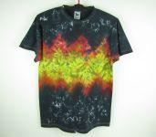 Batikované tričko Black fire, L