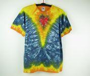 Batikované tričko Véčko srdce, XL