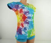 Dámské batikované tričko Hvězda, M