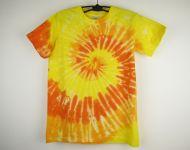 Dětské batikované tričko Sluneční spirála, XL