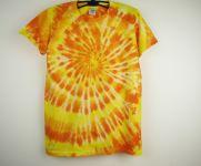 Dětské tričko žlutá batika Sluneční, XL