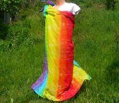 DUHOVÉ PAREO - šátek velký batika, 138x138cm