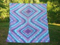 Modré bavlněné pareo batika