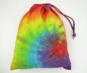 Látkový sáček batikovaný duhový