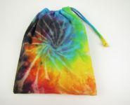 Látkový sáček Duhová spirála batika
