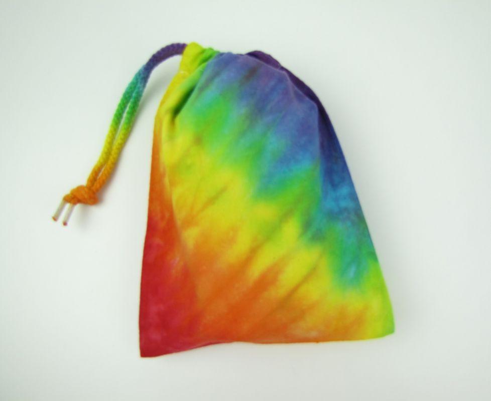 Látkový sáček duhová batika
