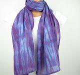 Bavlněná šálka batika Fialová