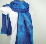Šálka bavlněná batikovaná Modrá, 180x50cm