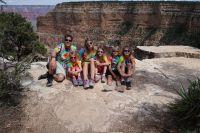 Monika s rodinou v Gran Canyon