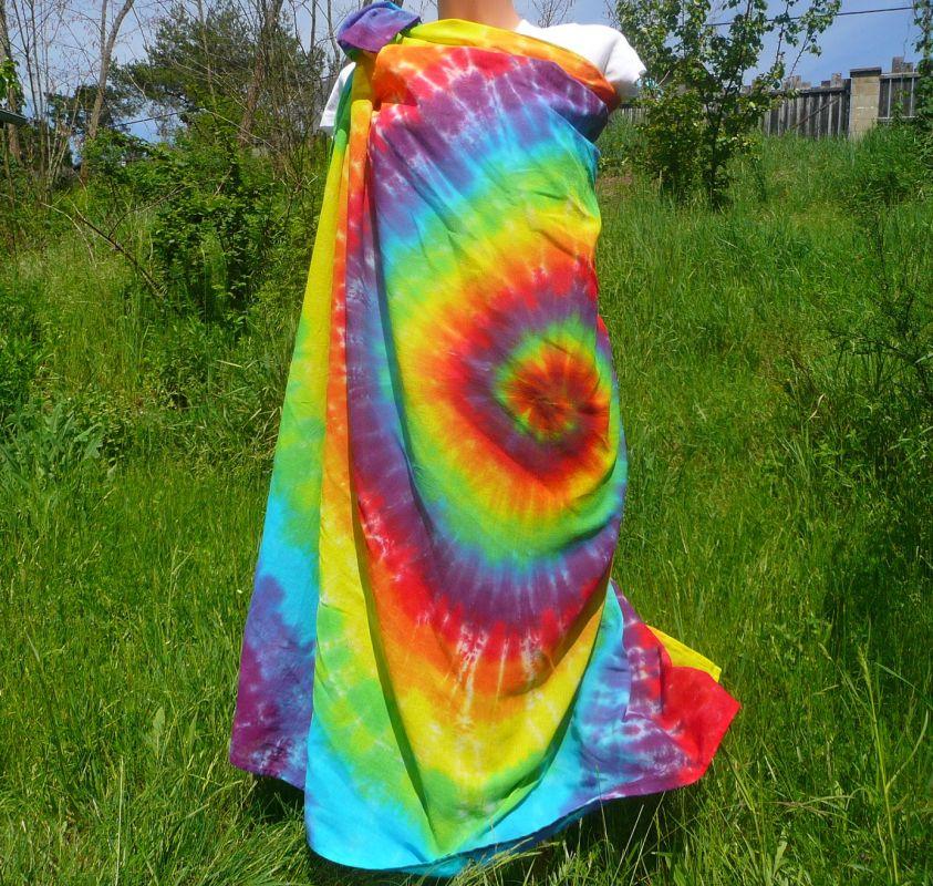 Duhový šátek pareo bavlna