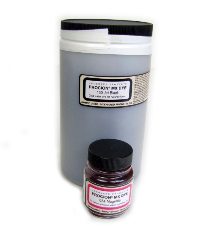 Barva na textil za studena Jacquard Procion MX 150 Černá 450g na objednávku