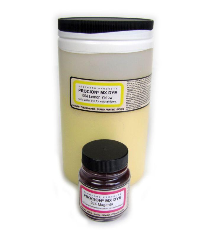Velké balení 450g barva na textil za studena Jacquard Procion MX 004 Citrónově žlutá