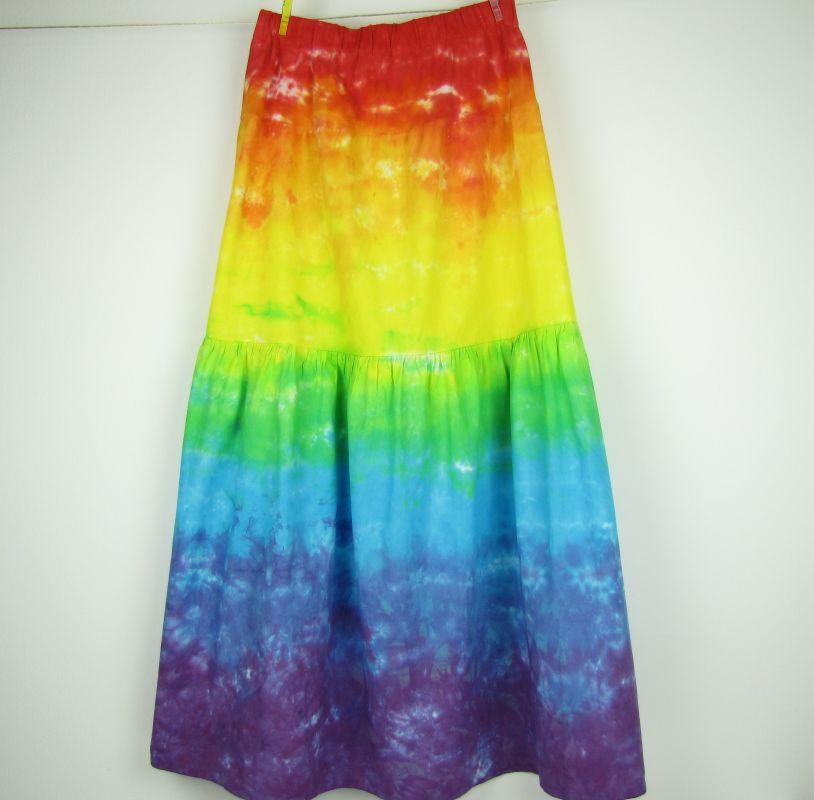 Dlouhá duhová sukně batika