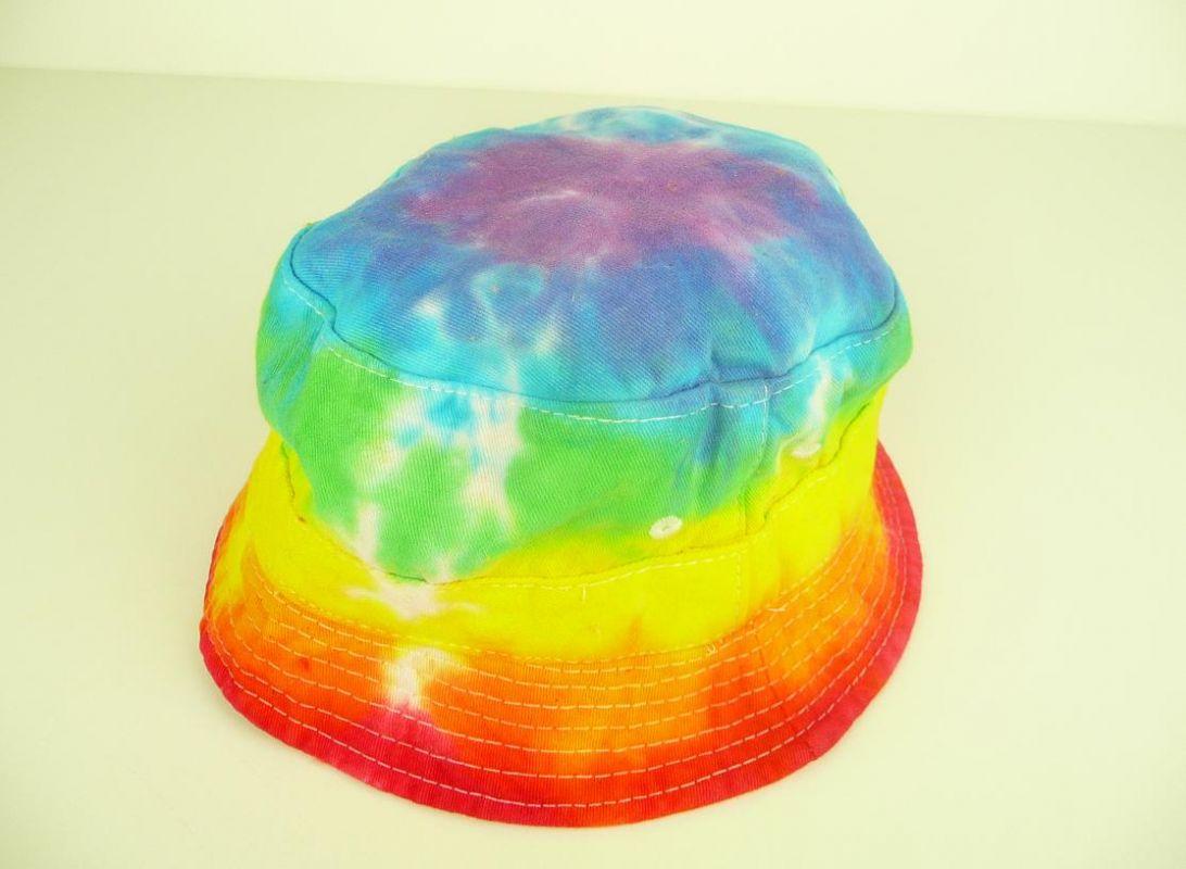 DĚTSKÝ klobouček batika Duhová Šťastní lidé-M