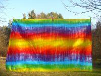 Duhový ubrus batika