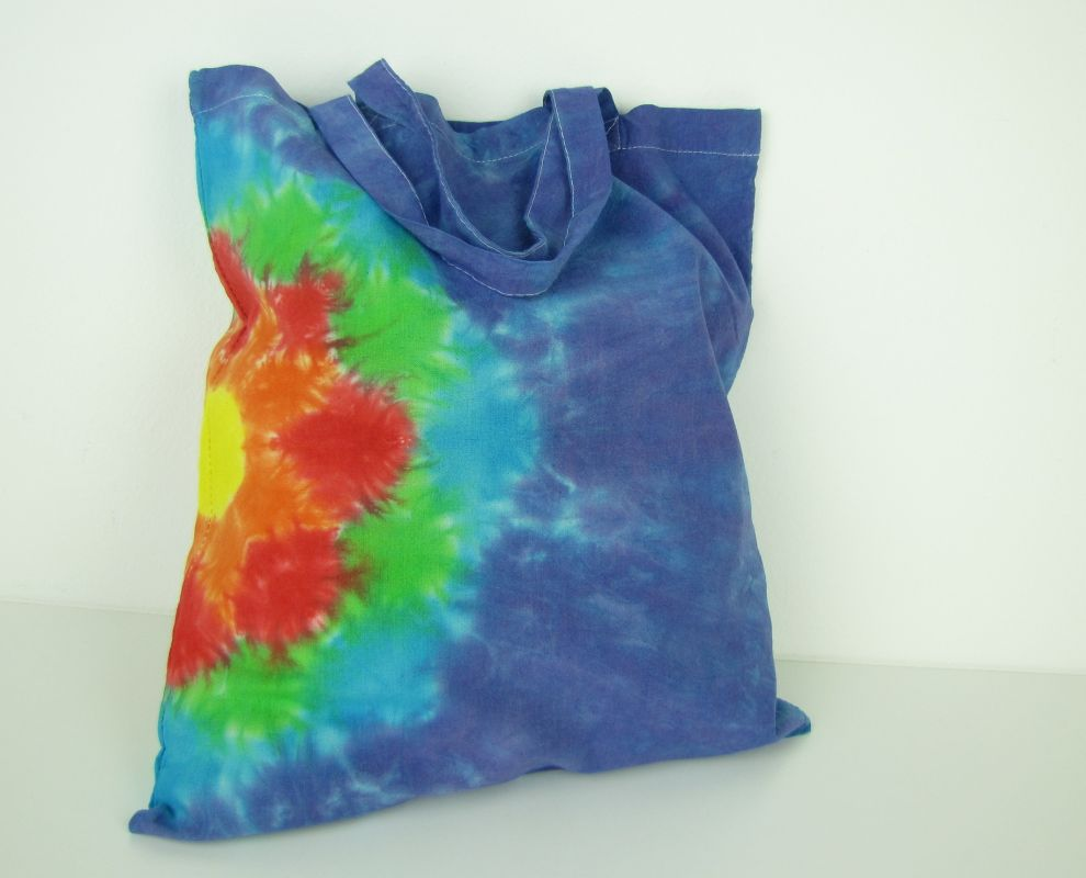 Látková nákupní taška modrá Mandala