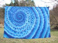 Ubrus-dekorace-tapisérie batika 180x120cm  MODRÁ SPIRÁLA