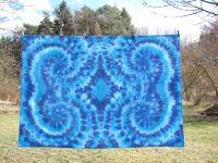 Ubrus-dekorace-tapisérie batika 180x120cm MODRÉ SPIRÁLY