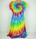 Duhové šaty batika Duhová spirála